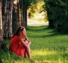 Anger Management Girl pondering and introspective.