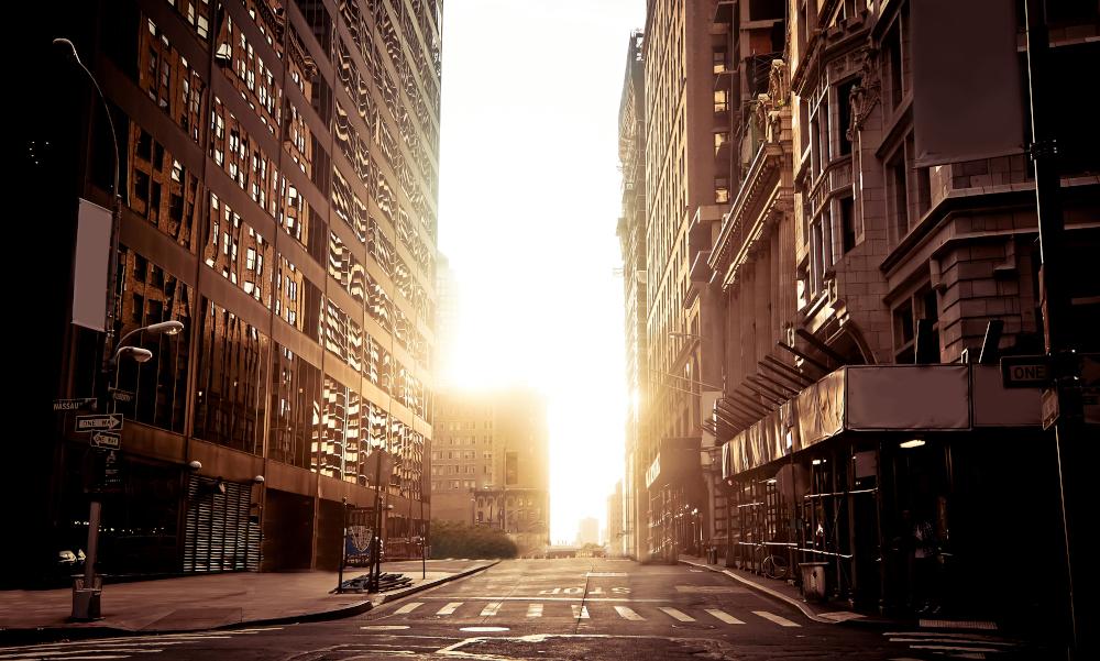 Empty city streets