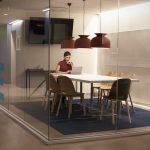 Businesswoman working alone